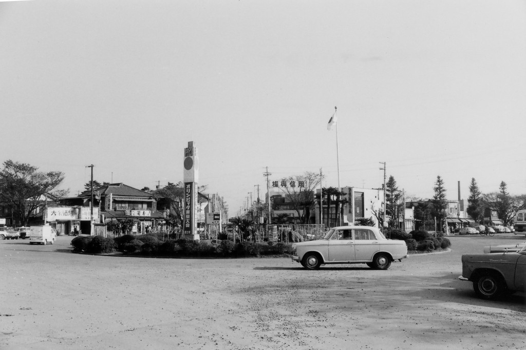 昭和39年-国立駅前ロータリー